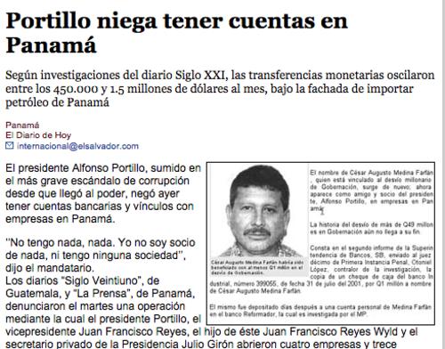 En varios medios Internacionales durante 2004 se mencionaba a Medina Farfán en varios casos de estafa.  (Foto: Soy502)