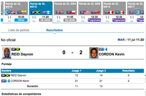 Kevin Cordón avanza a siguiente ronda en el bádminton de los Juegos Panamericanos de Toronto 2015.