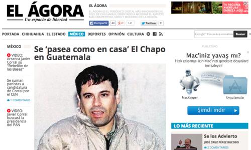"""En 2011 el diario El Ágora publicó un reportaje sobre las operaciones que realizaba el """"Chapo"""" entre Guatemala y Honduras.  (Foto: Soy502)"""