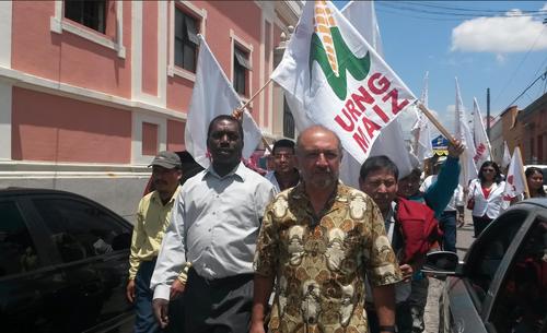 Varios simpatizantes de la URNG llegaron a acompañar a los candidatos al momento de recibir sus credenciales. (Foto: Soy502)