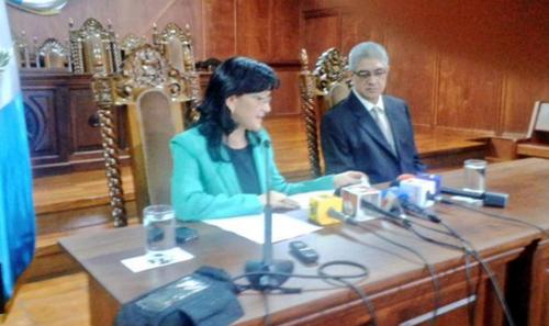 La presidenta de la CC Gloria Porras confirma que el fallo definitivo fue negar el amparo a la abogada Karen Fisher. (Foto: Guatemala Visible)