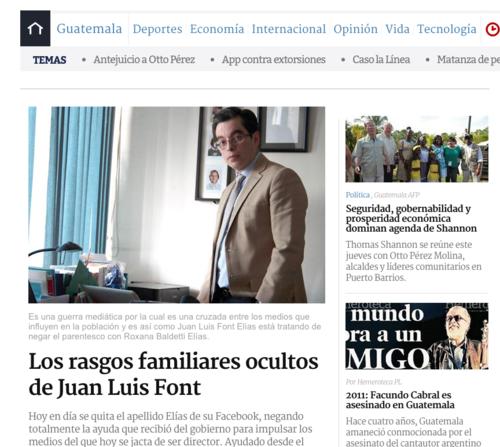 La página de Prensa Libre sufrió la clonación de su página oficial.  El sitio falso se localiza como Prensallibre.com.  (Foto: Soy502)