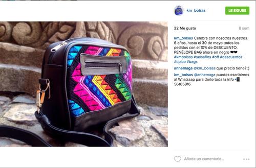 Instagram es una de las principales herramientas para promocionar los productos de KM Bolsas.