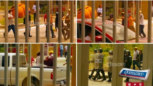 El impreso de Quetzaltenango publicó una serie de fotografías del momento del ataque.  (Foto: El Quetzalteco)