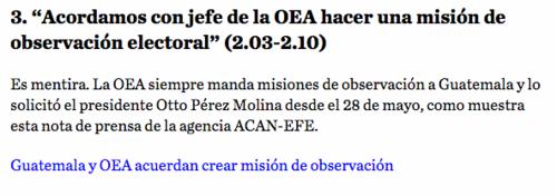 En la publicación de Nómada se hace mención a las mentiras de Manuel Baldizón. (Foto: Soy502)