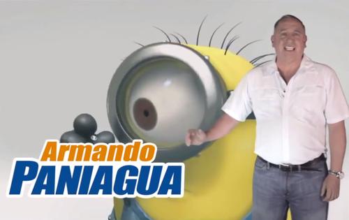 Paniagua también recibió señalamientos por el uso de la imagen de los minions durante su campaña, sin un permiso de derechos de autor.