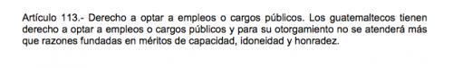Este es el artículo en el que el TSE se basa para rechazar la inscripción de Alfonso Portillo como candidato a diputado.