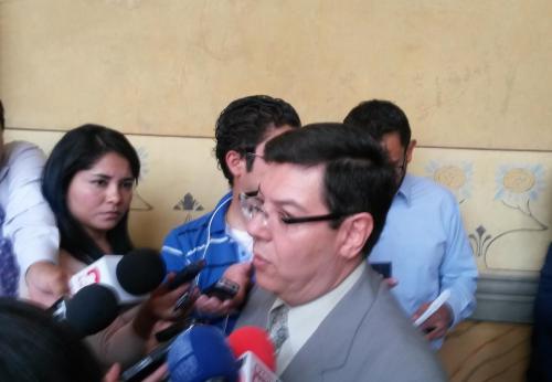 El Inspector General del TSE, Óscar Sagastume, anunció que entregará el informe de las actividades de Lider al pleno esta tarde. (Foto: Soy502)
