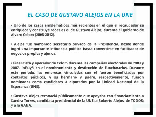 Este es parte del informe de la CICIG en el que se menciona a Gustavo Alejos.