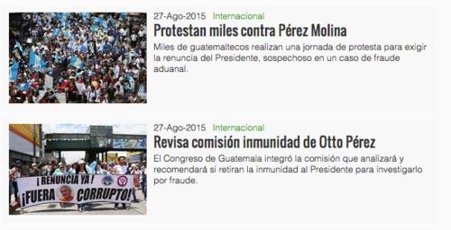 El diario Reforma de México también hacía publicaciones sobre la movilización en el país.  (Foto: Soy502)