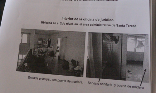 Vista del lugar que será remozado en Santa Teresa para que la ex vicepresidenta Roxana Baldetti guarde prisión preventiva. (Foto: Wilder López/Soy502)
