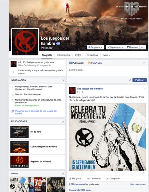 la pagina tiene más de 21 millones de seguidores.