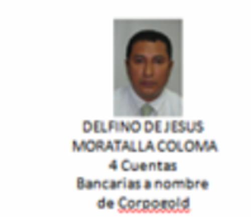 Delfino Morataya es el representante legal de cuatro cuentas de CorpGold, era el piloto de Javier Ortiz, alias Teniente Jerez.
