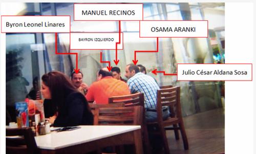 Manuel Recinos, siendo empleado de la SAT, se reunió con miembros de la estructura externa de La Línea para fraguar los ilícitos. (Foto. Cicig)