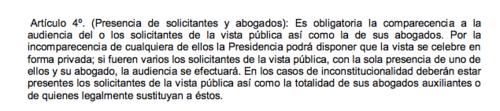 El Reglamento para la Celebración de Vistas Públicas no impide que se desarrolle la sesión por la incomparecencia de alguna de las partes.