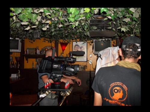 Las jornadas de grabación del video de Bacilea fueron largas. (Foto: Bacilea)
