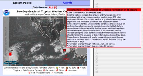 El Centro Nacional de Huracanes de Estados Unidos informó sobre los efectos del Sistema de Baja Presión.  (Foto: Soy502)
