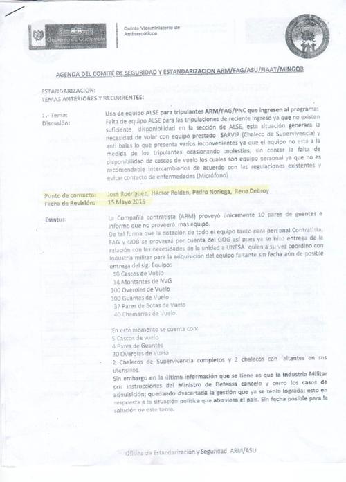 En este documento del Ministerio de Gobernación se puede observar que el hijo de la Ministra laboró en mayo de este año en ARM, Aviación.