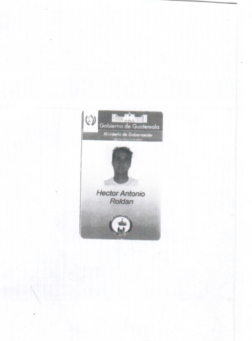 Finalmente, Soy502 tuvo acceso a una fotocopia del carné del hijo de la actual ministra de Gobernación.