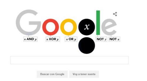 Google homenajeará a Boole con esta imagen en el buscador durante este lunes.