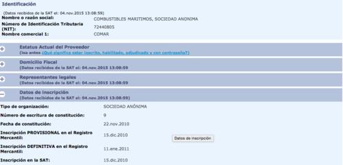 Aunque Rodríguez Portillo no figura entre la representación legal de Comarsa, la compañía ha sido favorecida con contratos del Estado.