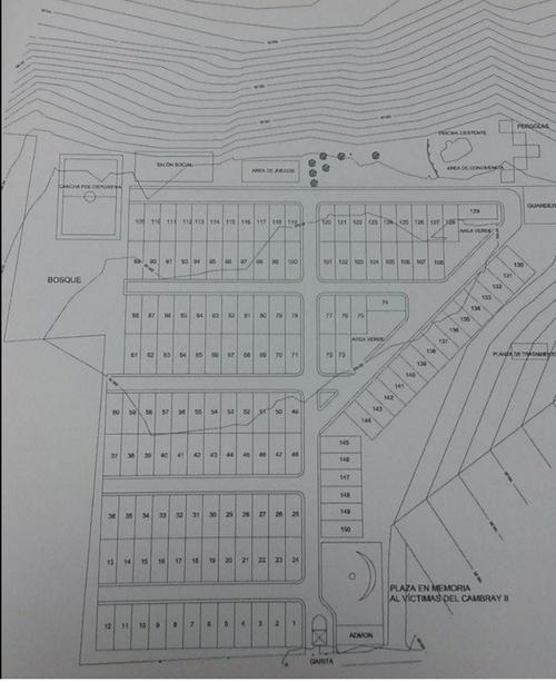 """Este es el plano de la construcción de """"Querida Familia"""", para cuya construcción se aprobó la prórroga del Estado de Calamidad."""