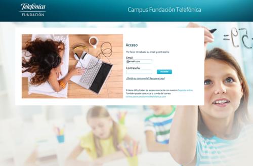 """La plataforma """"Campus Fundación Telefónica"""" es un entorno virtual de aprendizaje que ofrece formación a distancia a los docentes."""