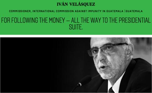 """Velásquez fue seleccionado en la categoría """"Retadores"""", donde también fue seleccionado Rodrigo Janot, procurador general de Brasil. (Imagen: Foreign Policy)"""