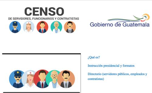 Por medio de la página web, podrá conocerse la cantidad de empleados de cada dependencia del Ejecutivo. (Imagen: Gobierno de Guatemala)
