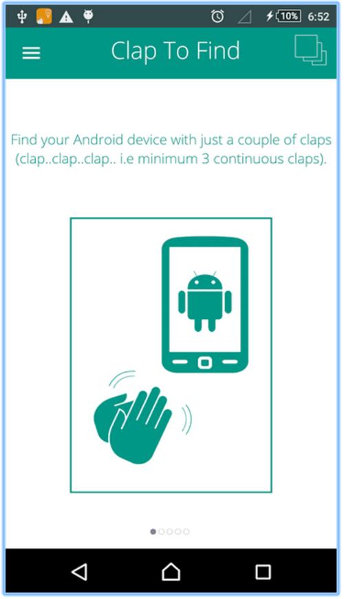 La App se activa al escuchar aplausos del usuario. (Imagen: Google Play)