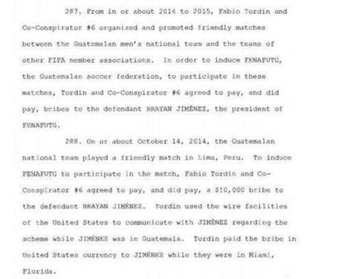 Este sería el documento por lo cual las autoridades también investigan a Brayan Jiménez y empresarios peruanos.  (Foto:  La10.pe)
