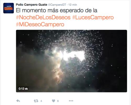 Pollo Campero ofreció un espectáculo de la talla esperada para festejar también su 25 aniversario. (Foto: Twitter Pollo Campero).