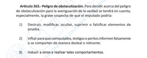 Artículo 262 del Código Procesal Penal de Guatemala.