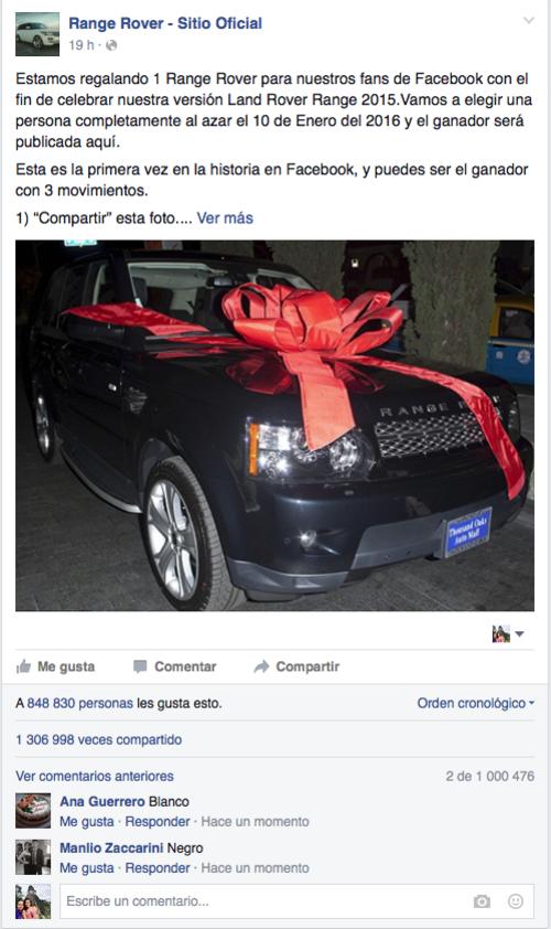 El post ha sido compartido más de 1 millón de veces.