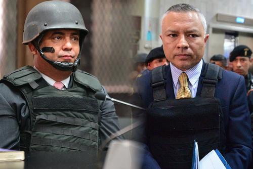 """Juan Carlos Monzón y Salvador Estuardo González alias """"Eco"""", sindicados en el caso La Línea, son dos de los famosos reclusos que se encuentran en la prisión Pavoncito."""