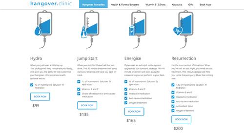 Estos son los servicios que ofrece la clínica que se especializa en curar la resaca.