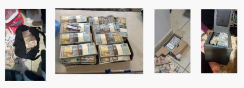 En la casa del Intendente Jurídico, Alfonzo Castillo, se encontraron 2.9 millones de quetzales y 1,200 dólares.