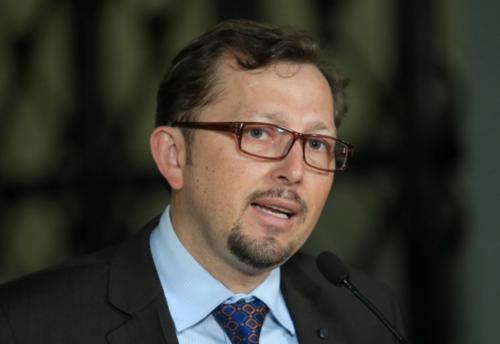 El vocero presidencial, Heinz Heimman, dio declaraciones después de que se realizara reunión de Gabinete de Gobierno. (Foto: Presidencia)