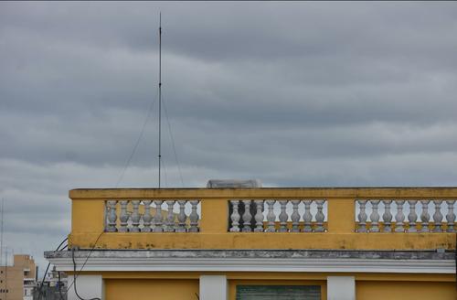 Este es el pararrayos que fue instalado en el edificio del Registro General de la Propiedad. (Foto: Wilder López/Soy502)