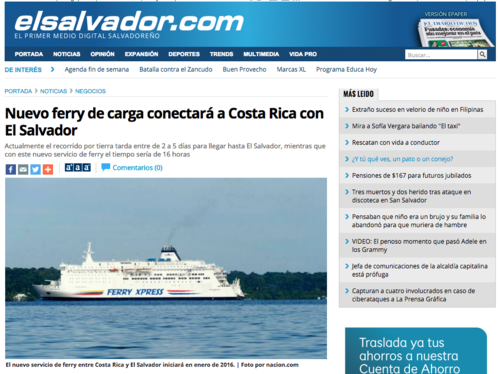 Así se compartió la noticia en El Salvador sobre el servicio. (Foto: Soy502)