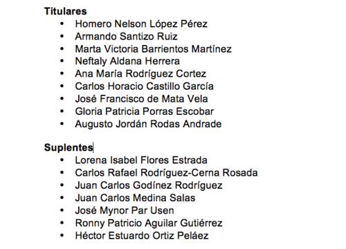 El CSU cuenta con un listado de 16 aspirantes a la CC.