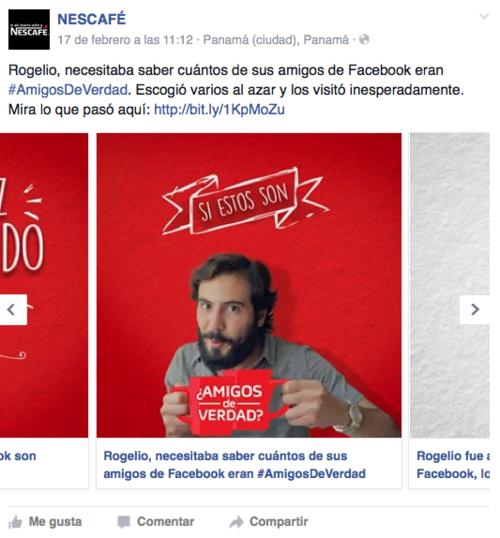 El reto social de Nescafé es que los usuarios de Facebook descubran quiénes son sus #AmigosDeVerdad.  (Foto: Facebook Nescafé)