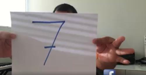 """El número 7 suele ser escogido por muchas personas por considerarlo de """"suerte"""". (Foto: Facebook)"""
