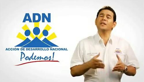 Jimmy Morales fue candidato del partido ADN en las elecciones de 2011, en ese entonces su partido apoyó al Partido Patriota (Foto: Archivo)