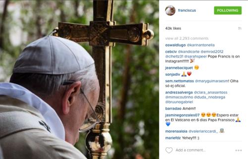 El Papa Francisco llega a tres años de pontificado. (Foto: @franciscus)