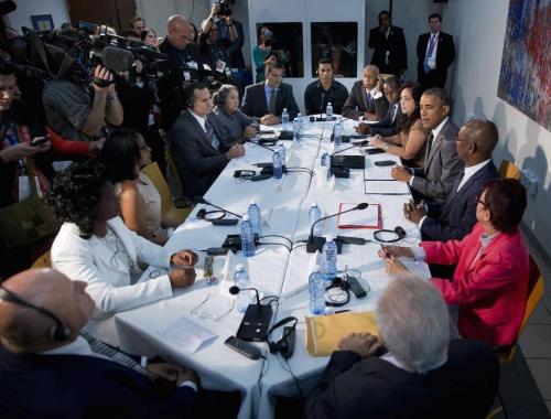 El mandatario se reunió en la sede de la embajada estadounidense en La Habana. (Foto: Nuevo Herald)