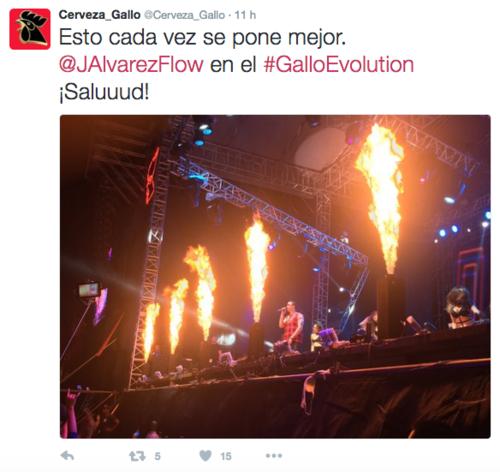 Por doceava vez se llevó a cabo el espectáculo musical Gallo Evolution. (Foto: Tomado de Twitter)
