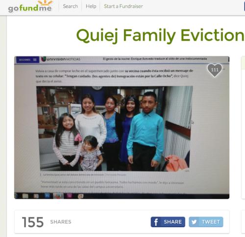 Ésta es la campaña para apoyar a Lucía Quiej para pagar sus deudas y encontrar un nuevo hogar para su familia.
