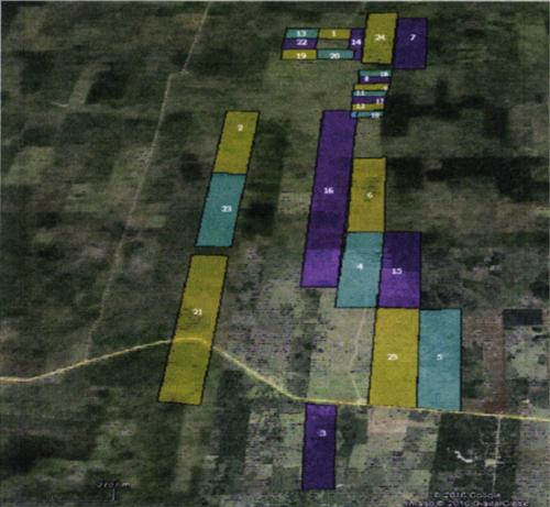 Mapa de las propiedades que fueron adquiridas de manera anómala por la estructura. (Foto: Ministerio Público)