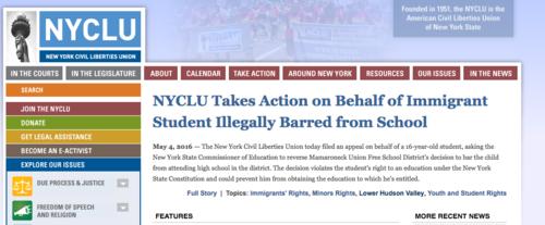 Este es el comunicado de la Organización NYCLU respecto a la demanda.